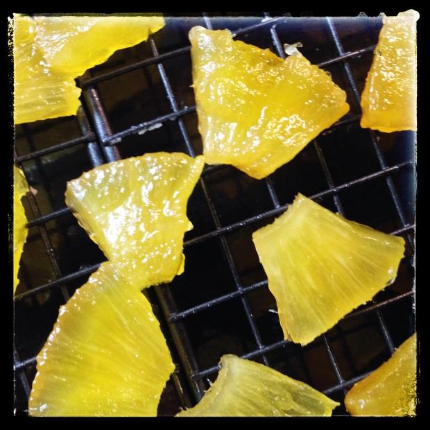 Ananas confites, après 10 jours !