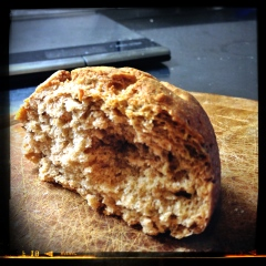 Vue sur la mie de mon pain