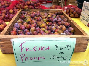 Les bonnes prunes...